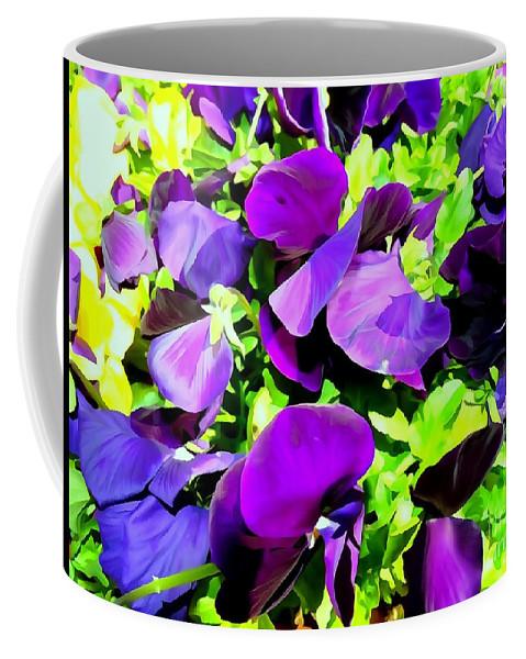 Digital Art Coffee Mug featuring the photograph Purple Petals by Ed Weidman