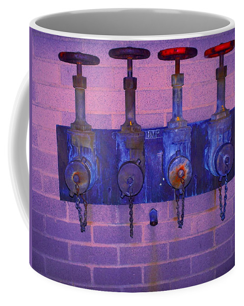 Photograph Coffee Mug featuring the photograph Purple Pipes by Thomas Valentine