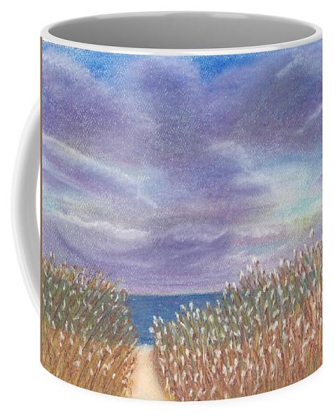 Purple Coffee Mug featuring the pastel Purple Sky by Linda Humes