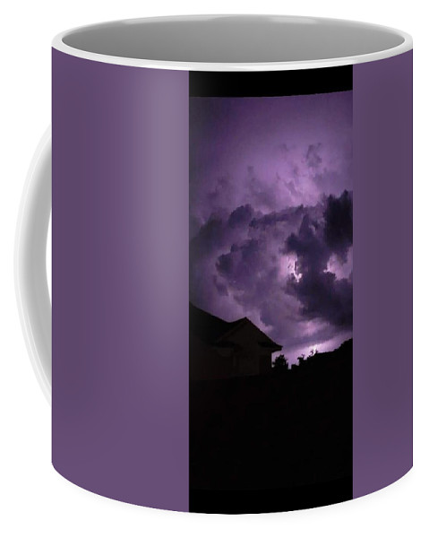 Coffee Mug featuring the photograph Purple Sky by Thomas Blanton