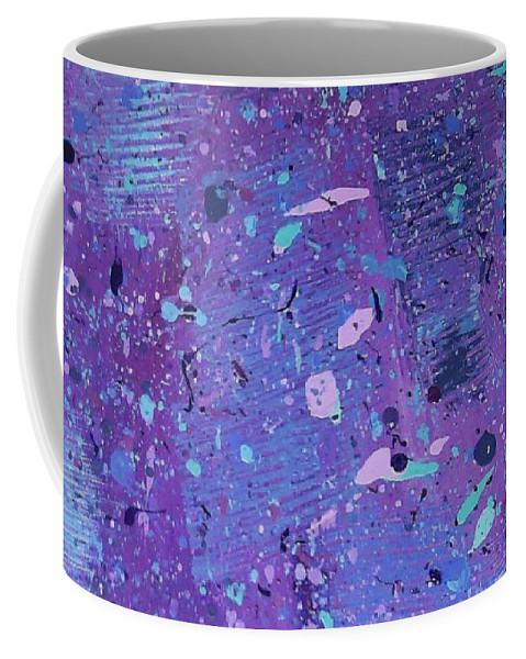 Abstract Coffee Mug featuring the painting Purple Splash by Jill Christensen