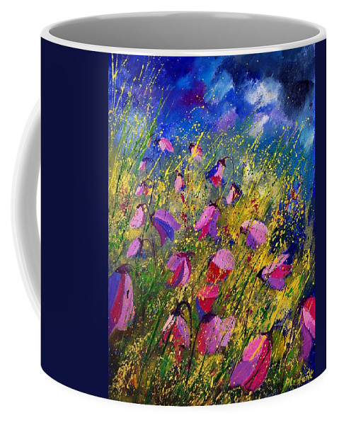 Poppies Coffee Mug featuring the painting Purple Wild Flowers by Pol Ledent