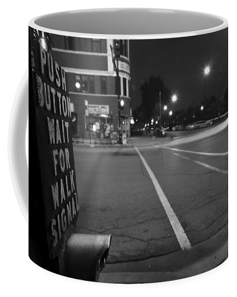 Crosswalks Coffee Mug featuring the photograph Push Button For Walk Signal by Sven Brogren