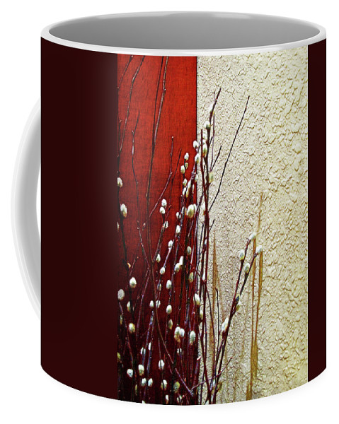 Botanical Coffee Mug featuring the photograph Pussy Willow Corner by Joan Minchak