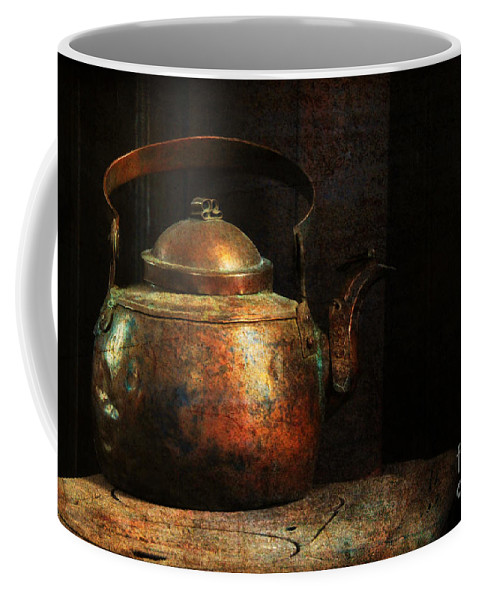 Kettle Coffee Mug featuring the photograph Put The Kettle On by Lois Bryan