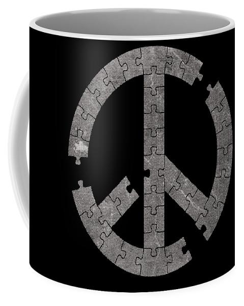 Piece Coffee Mug featuring the digital art Puzzle by Koko Toro