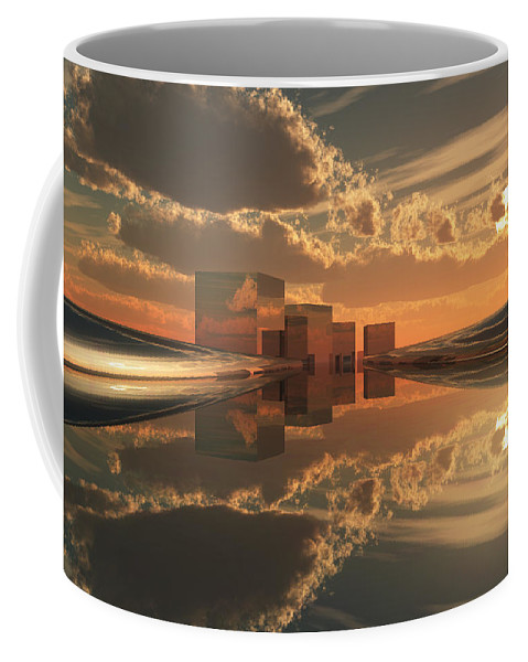 Abstractly Coffee Mug featuring the digital art Q-city Five by Max Steinwald