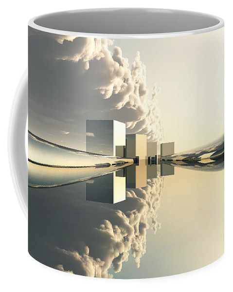 Abstractly Coffee Mug featuring the digital art Q-city Four by Max Steinwald