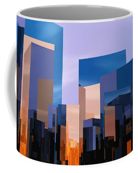 Abstractly Coffee Mug featuring the digital art Q-city One by Max Steinwald