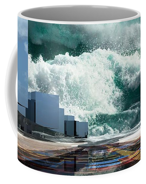 Abstractly Coffee Mug featuring the digital art Q-city Seven by Max Steinwald