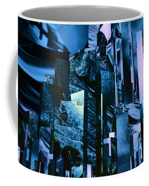 Abstractly Coffee Mug featuring the digital art Q-city Six by Max Steinwald