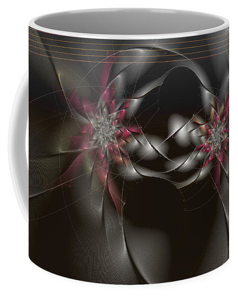 Abstract Coffee Mug featuring the digital art Quantum Collusion by Casey Kotas