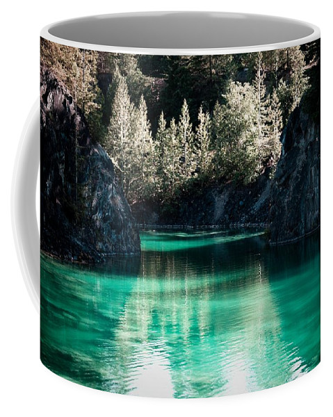 Quarry Coffee Mug featuring the photograph Quarry Waters by Danielle Silveira