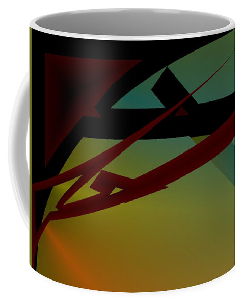 Quarter Coffee Mug featuring the digital art Quarter by Helmut Rottler