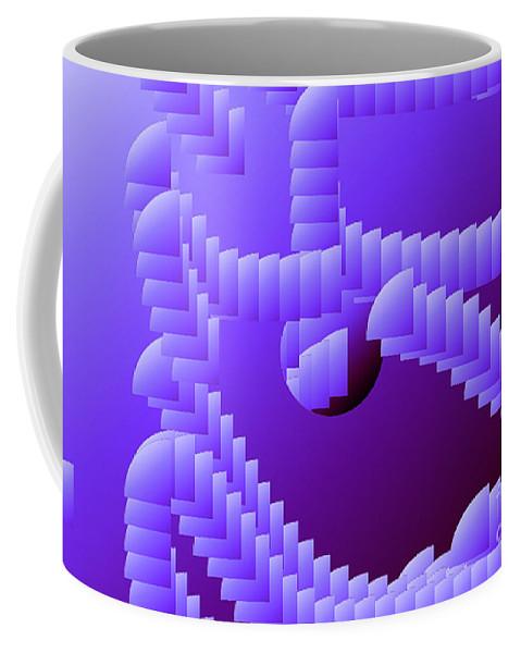 Digital Coffee Mug featuring the digital art Quarter Shell by Ron Bissett