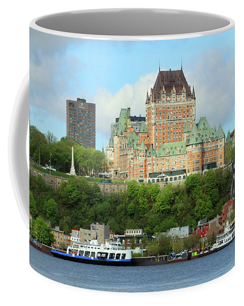 Quebec City Coffee Mug featuring the photograph Quebec City Waterfront 6324 by Jack Schultz