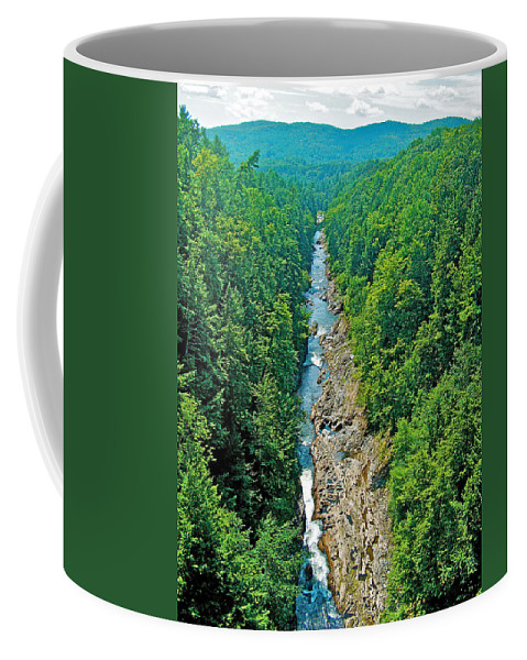 Quiche Gorge Coffee Mug featuring the photograph Quechee Gorge-vermont by Ruth Hager