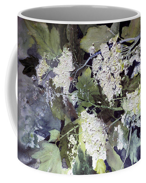 Queen Annes Lace Coffee Mug featuring the painting Queen Anne's Lace by Connie Williams