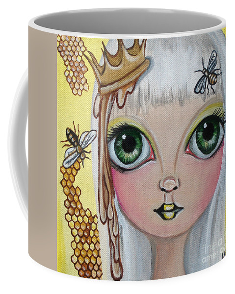 Bee Coffee Mug featuring the painting Queen Bee by Jaz Higgins