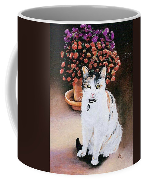 Cat Coffee Mug featuring the pastel Queen Marishka by Gale Cochran-Smith