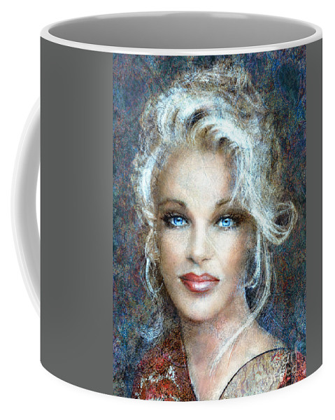 Painting Coffee Mug featuring the painting Queen Of Glamour Bright by Angie Braun
