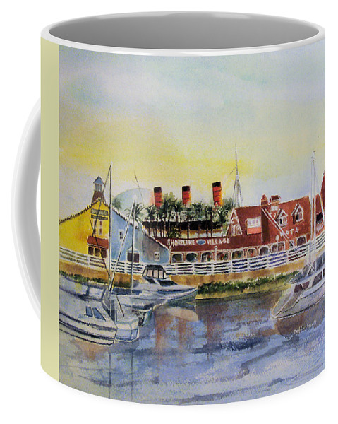 Watercolor Coffee Mug featuring the painting Queen Of The Shore by Debbie Lewis