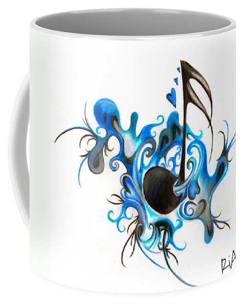 Music Coffee Mug featuring the photograph Quenched by Music by Artist RiA