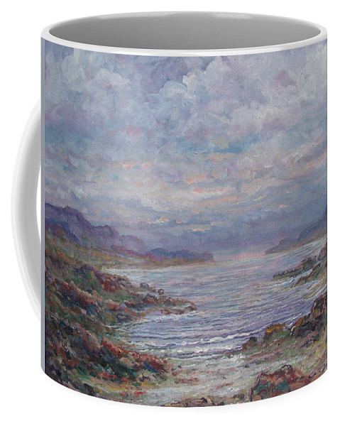 Painting Coffee Mug featuring the painting Quiet Bay. by Leonard Holland