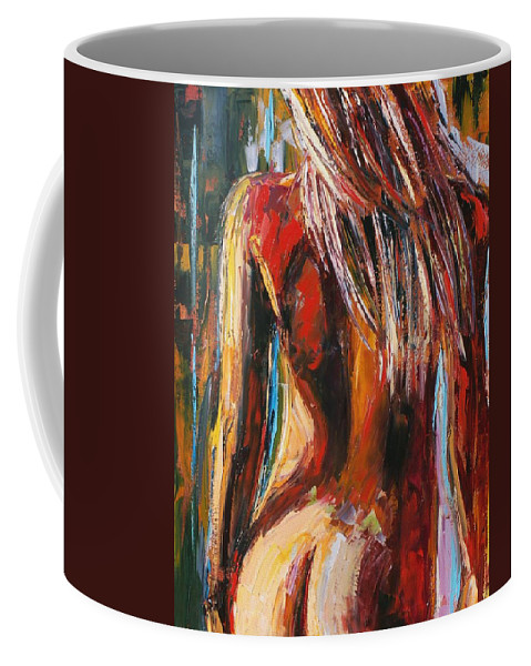 Nude Coffee Mug featuring the painting Quiet Breeze by Debra Hurd