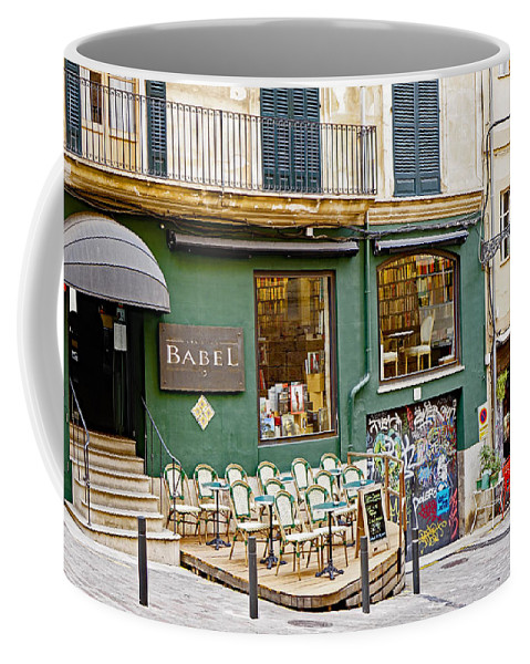 Cafes Coffee Mug featuring the photograph Quiet Cafes In Palma Majorca Spain  by Richard Rosenshein