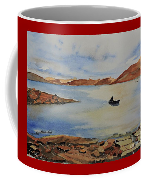 Quiet Place Coffee Mug featuring the painting Quiet Place by Lise PICHE
