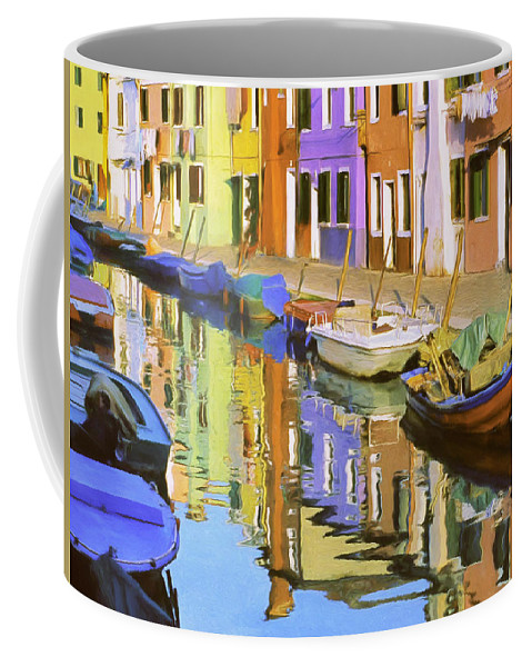 Isola Coffee Mug featuring the painting Quiet Waterway Reflections by Dominic Piperata