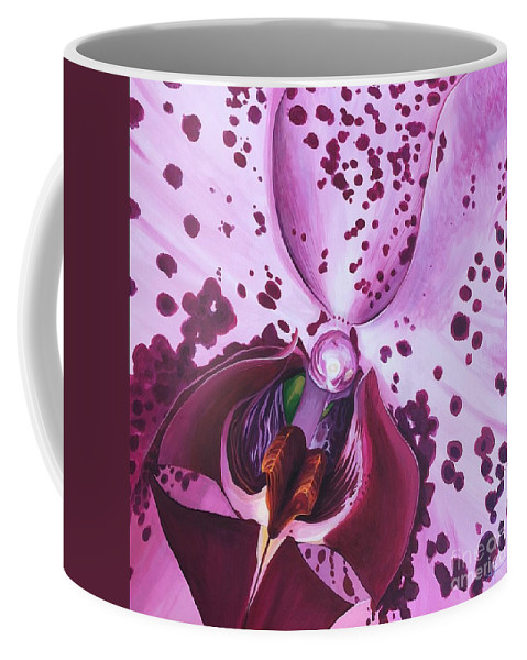 Phaleonopsis Coffee Mug featuring the painting Quiet World by Hunter Jay