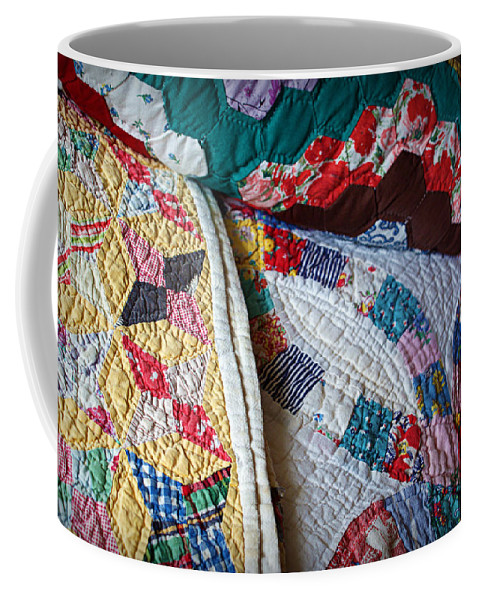 Quilt Coffee Mug featuring the photograph Quilted Comfort by Cricket Hackmann