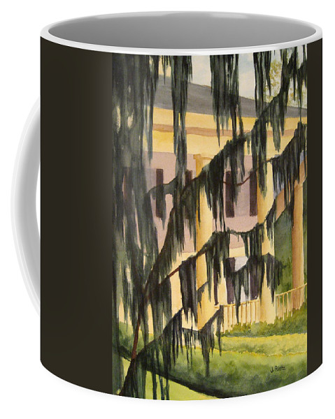 Buildings Coffee Mug featuring the painting Quinby Plantation by Julia RIETZ
