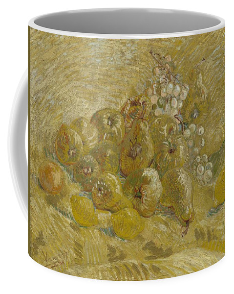 Nature Coffee Mug featuring the painting Quinces, Lemons Pears And Grapes Paris, September - October 1887 Vincent Van Gogh 1853 1890 by Artistic Panda