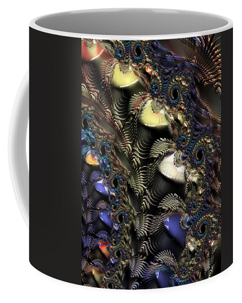 Fractal Coffee Mug featuring the digital art Quite Contrary by Amanda Moore