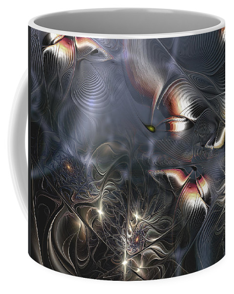 Abstract Coffee Mug featuring the digital art Quixotic Cerebrations by Casey Kotas