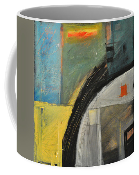 Abstract Coffee Mug featuring the painting Quonset by Tim Nyberg