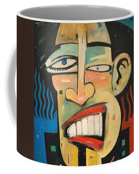 Jazz Coffee Mug featuring the painting R And B by Tim Nyberg