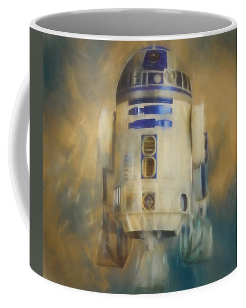 R2-d2 Coffee Mug featuring the painting R2-d2 Color Warp by Dan Sproul