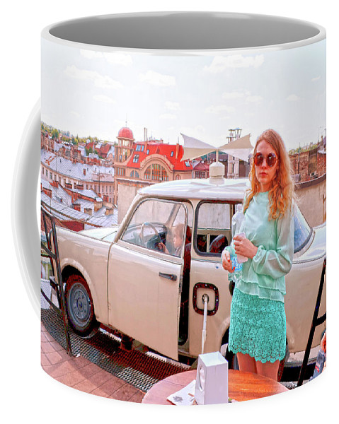 Going Far Coffee Mug featuring the digital art Rabbi Rules by Alessandro Cini