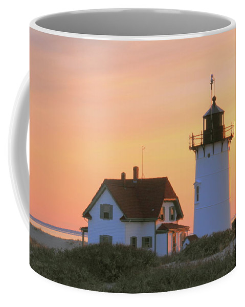 Lighthouse. Light Coffee Mug featuring the photograph Race Point Light by Roupen Baker