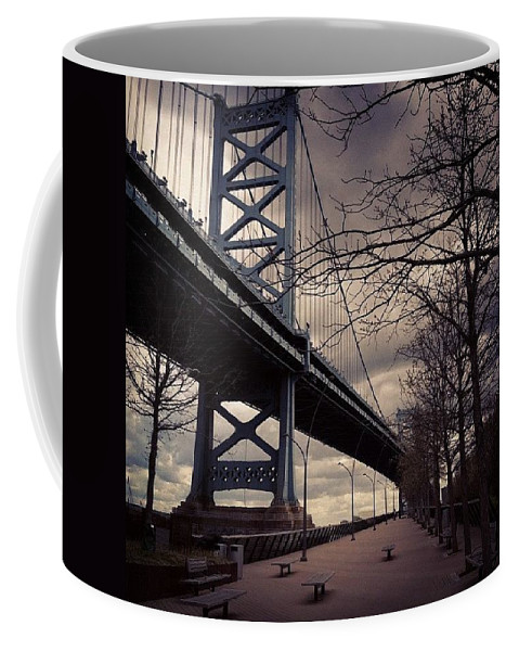 Philly Coffee Mug featuring the photograph Race Street Pier by Katie Cupcakes