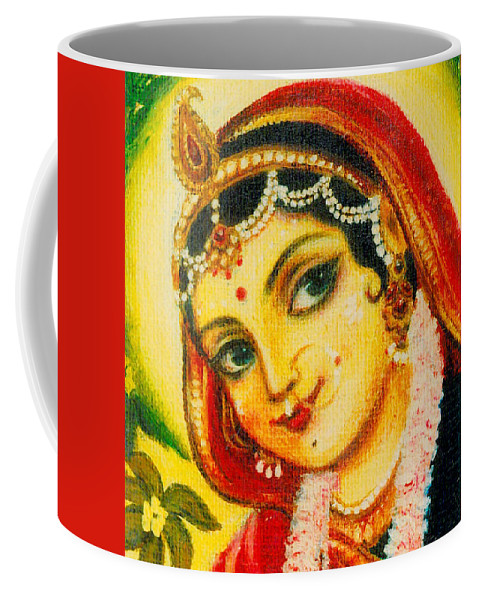 Radha Coffee Mug featuring the painting Radha - The Indian Love Goddess by Alexandra Bilbija