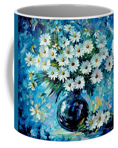 Floral Coffee Mug featuring the painting Radiance by Leonid Afremov