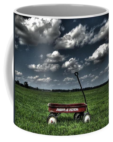 Wagon Coffee Mug featuring the photograph Radio Flyer by Jane Linders