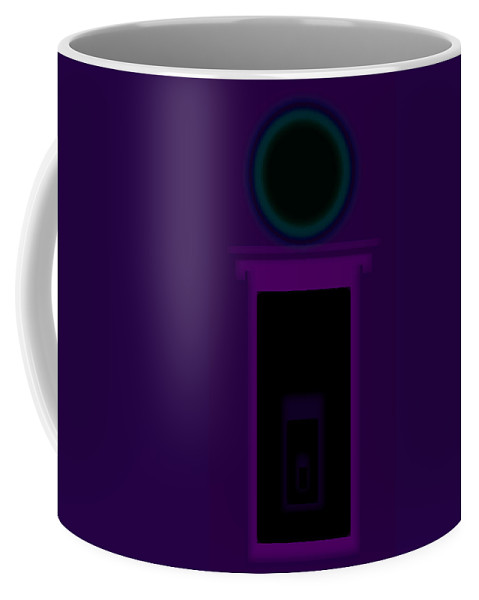 Palladian Coffee Mug featuring the painting Radio Purple Palladio by Charles Stuart