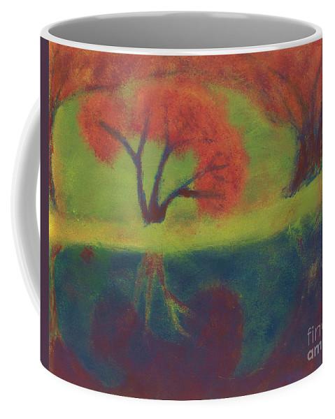 Radioactive Coffee Mug featuring the painting Radioactive Waters by Caleb Grow