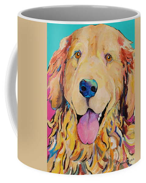 Golden Retriever Coffee Mug featuring the painting Radley by Pat Saunders-White